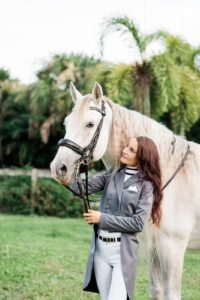 Audrie and her stallion Ecuador XXIV (Bred by The Royal Andalusian School