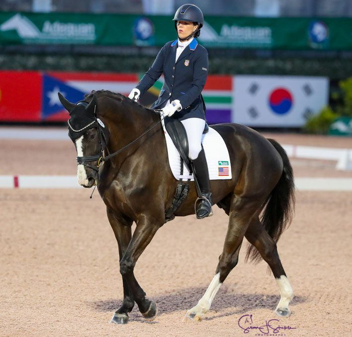 Roxie and Dolton at the CPEDI3* week 9 of the Adequan Global Dressage Festival 2021 Wellington, FL. Photo: Susan Stickle.